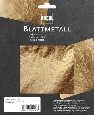 Blattmetall Gold, 6 Blätter