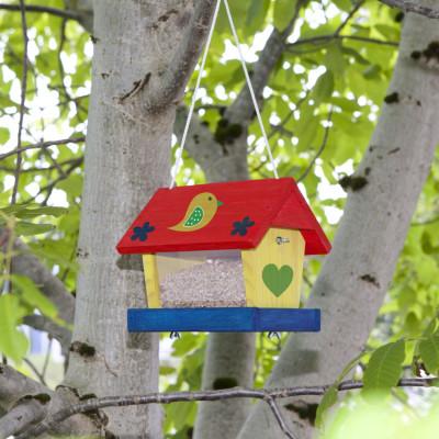 Vogelhaus Bausatz inklusive Farben und Pinsel