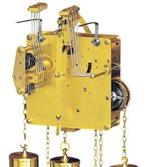 Standuhrwerk Hermle 451-030, 8-Tage, Pendel 55cm , Schlag auf Gong, Westminster