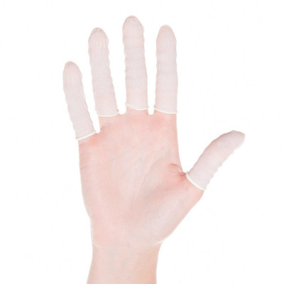 Finger cots, nitrile, anti-static, antiallergenic, size S - dia. 15mm