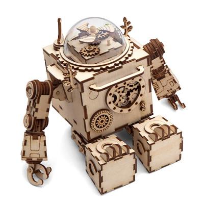 ROKR 3D-Bausatz Spieluhr Roboter Orpheus