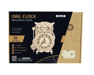 ROKR 3D-Bausatz Pendeluhr/ Eulen-Timer Owl Clock