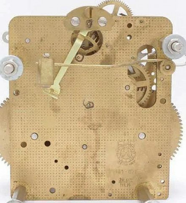 Regulatorwerk Hermle 141-071, 14-Tage, Pendellänge 38cm , Schlag auf Glocke
