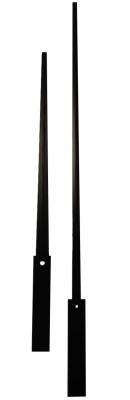 Euronormzeiger schwarz Alu 450/ 330mm mit Ausgleichgewicht