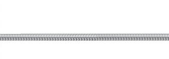 Collierkette Edelstahl, Schlange 45cm