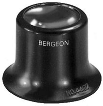 Uhrmacherlupe 3,3x Bikonvexe Linse Bergeon