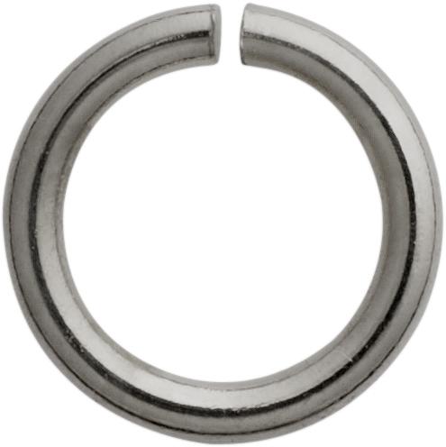 Bindering rund Edelstahl / weiß Ø 5,00 mm, Stärke 1,00 mm