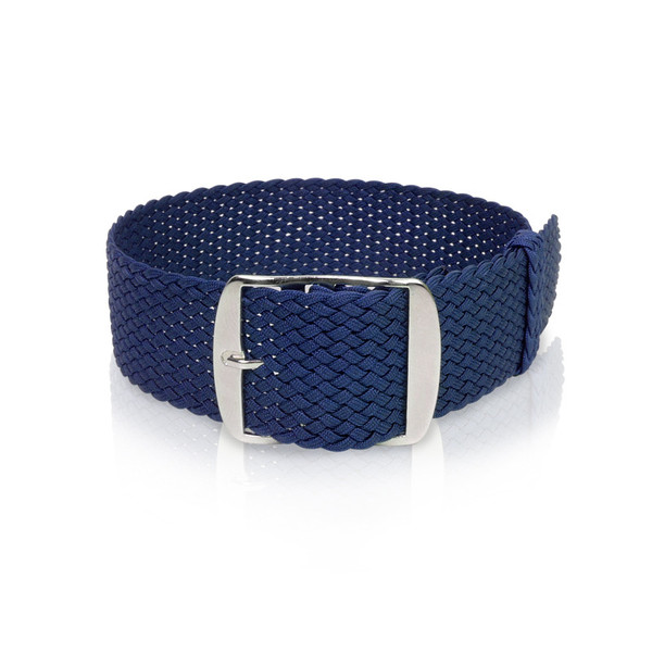 Perlon band navy blue, 18mm