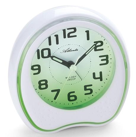 Atlanta 1747/0 white Alarm clock Wellness