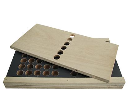 Holzbox leer für KWM-Sortiment