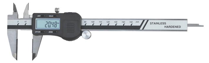 Schieblehre Digital 150mm mit Hartmetallmessflächen