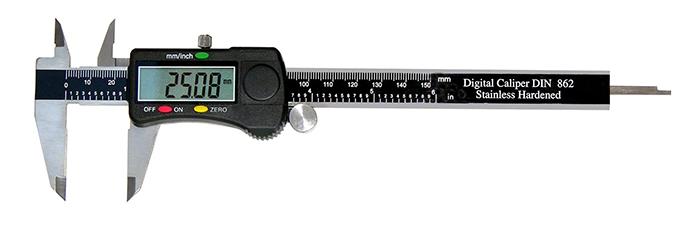 Schieblehre Digital 150mm mit Rolle und Datenausgang