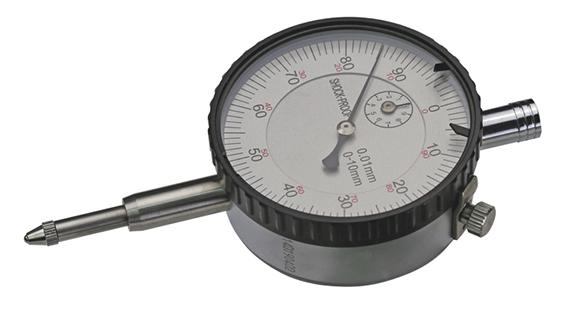 Dial gauge with tolerance marks, Ø 56mm, measuring range 10mm