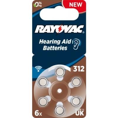 Rayovac 312 Hörgeräteknopfzelle