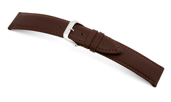 Lederband Arezzo 17mm mokka, glatt