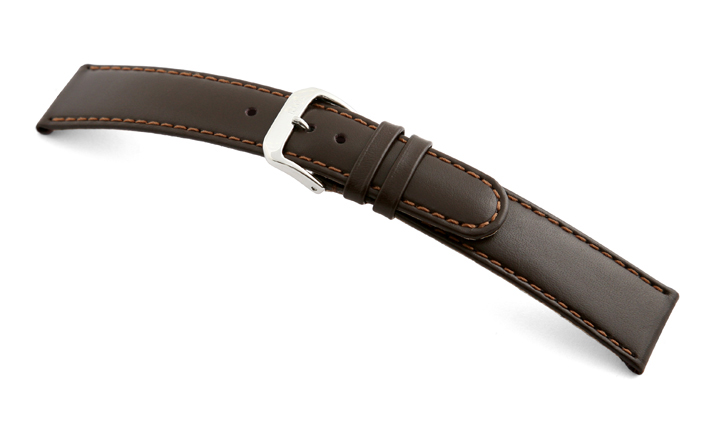 Leather strap Phoenix 18mm mocha smooth