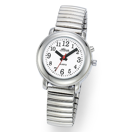 Atlanta 8915/19 silber sprechende Armbanduhr