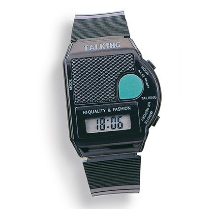Atlanta 6694 schwarz sprechende Armbanduhr mit Weckfunktion