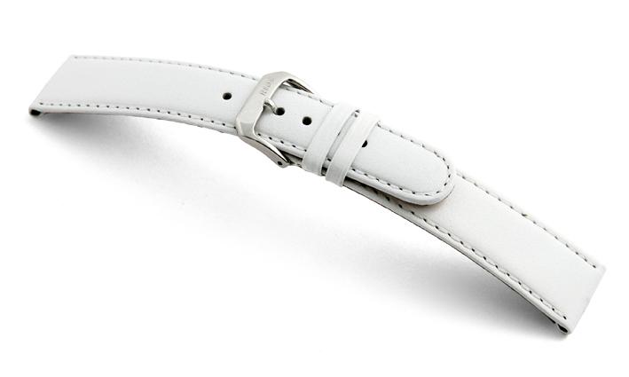 Bracelet-montre en cuir Phoenix 10mm blanc lisse XL