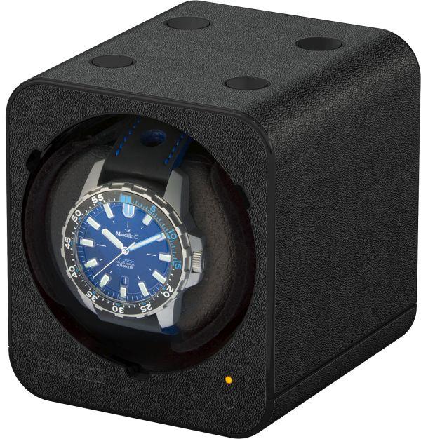 Uhrenbeweger Fancy Brick Lederoptik schwarz