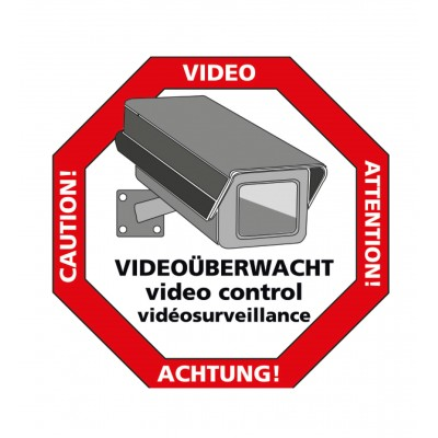"Sticker ""Vorsicht Video"""