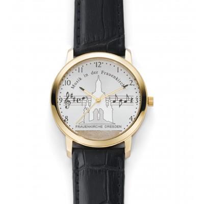 Montre-bracelet «Musik in der Frauenkirche», montre pour dames, Ø 38 mm, dorée
