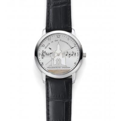 Montre-bracelet «Musik in der Frauenkirche», montre pour dames, Ø 38 mm, blanche