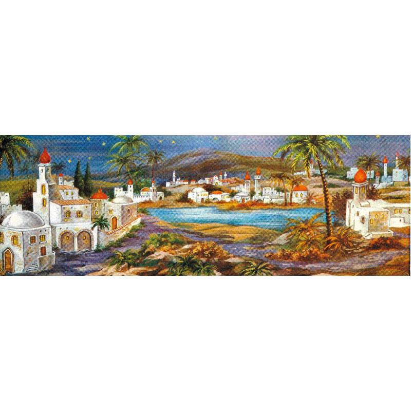 Zauberhaftes orientalisches Landschaftsmotiv