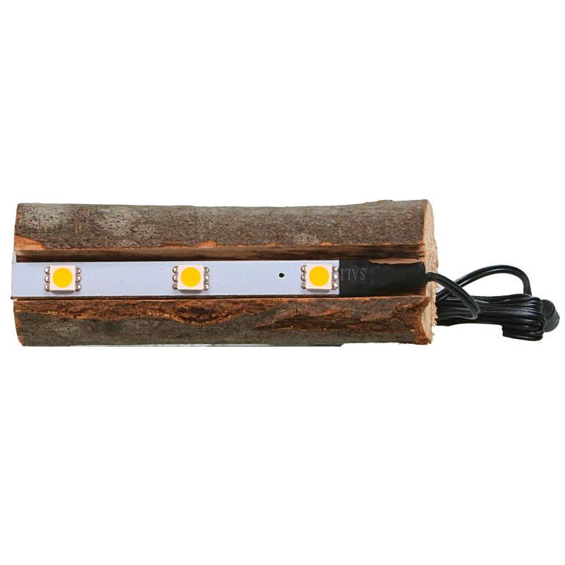 Tronc d'arbre avec éclairage LED indirect