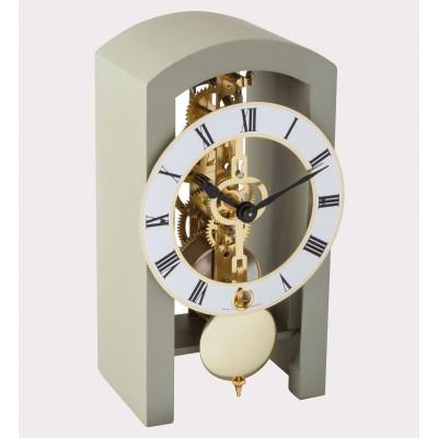 HERMLE skeleton table clock, gray
