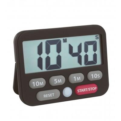 Minuteur + chronomètre digital, noir