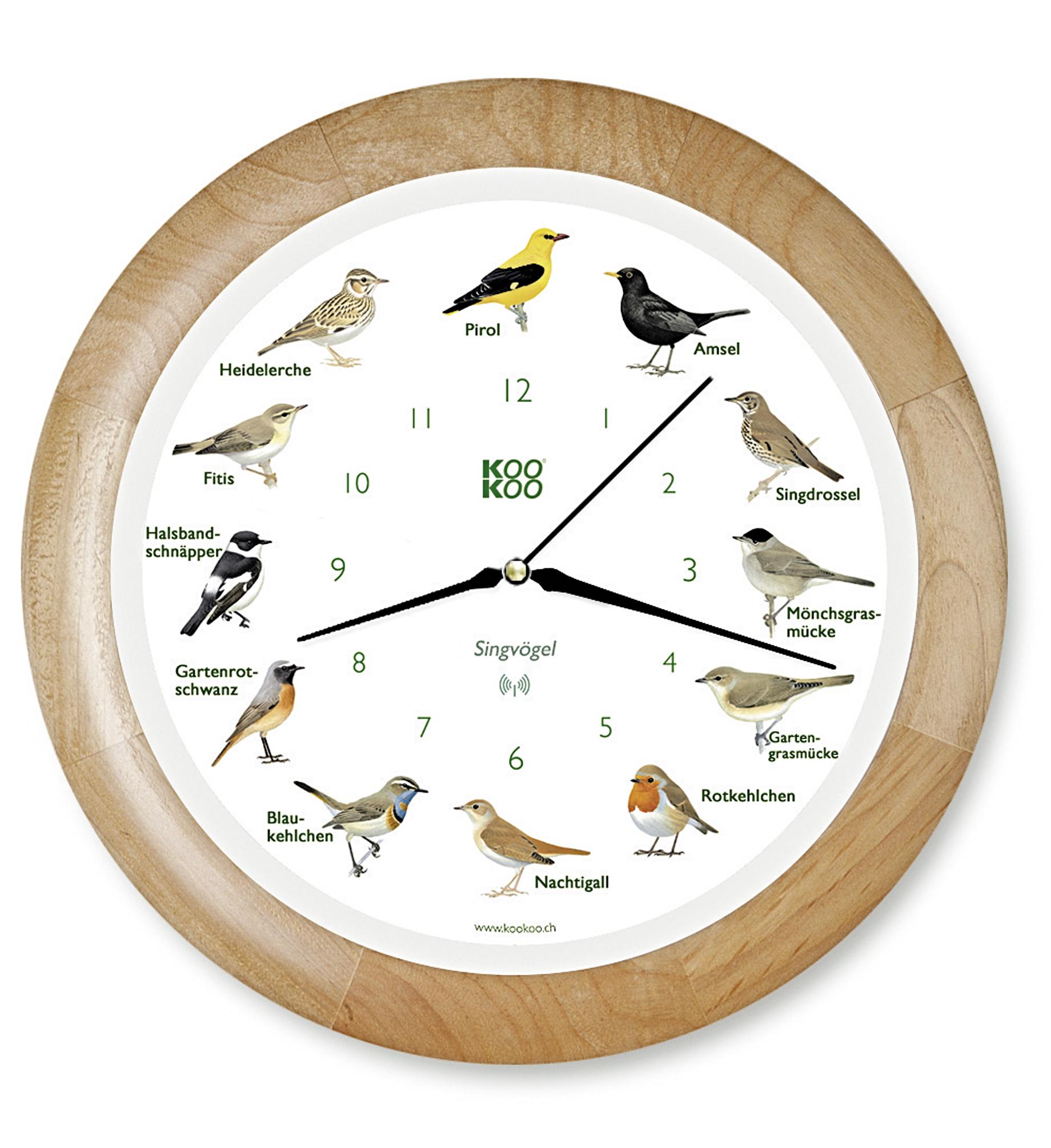 """Horloge murale """"OISEAUX CHANTEURS"""""""