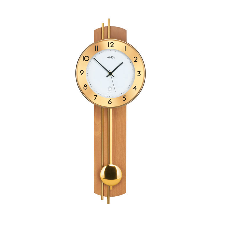 "AMS Radio-Controlled Wall Clock ""Merano"""