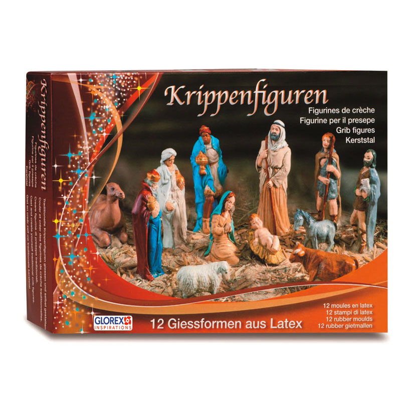 Latexformen-Set Krippenfiguren