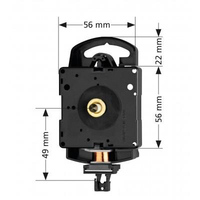 Quarz-Pendeluhrwerk Hermle 2200, ZWL 21mm