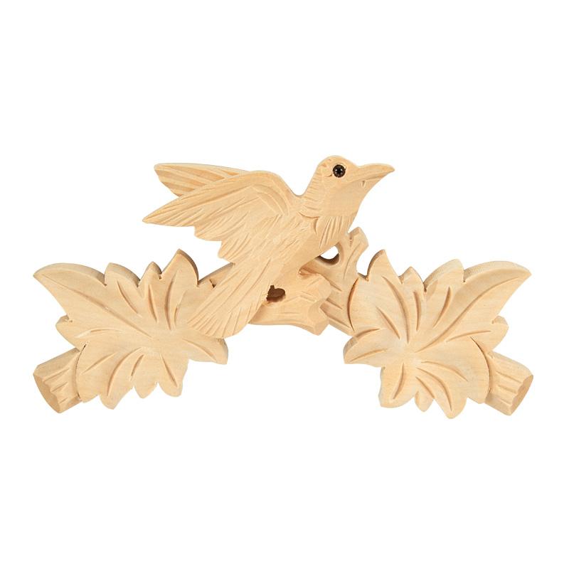 Geschnitztes Kopfstück für Kuckucksuhren
