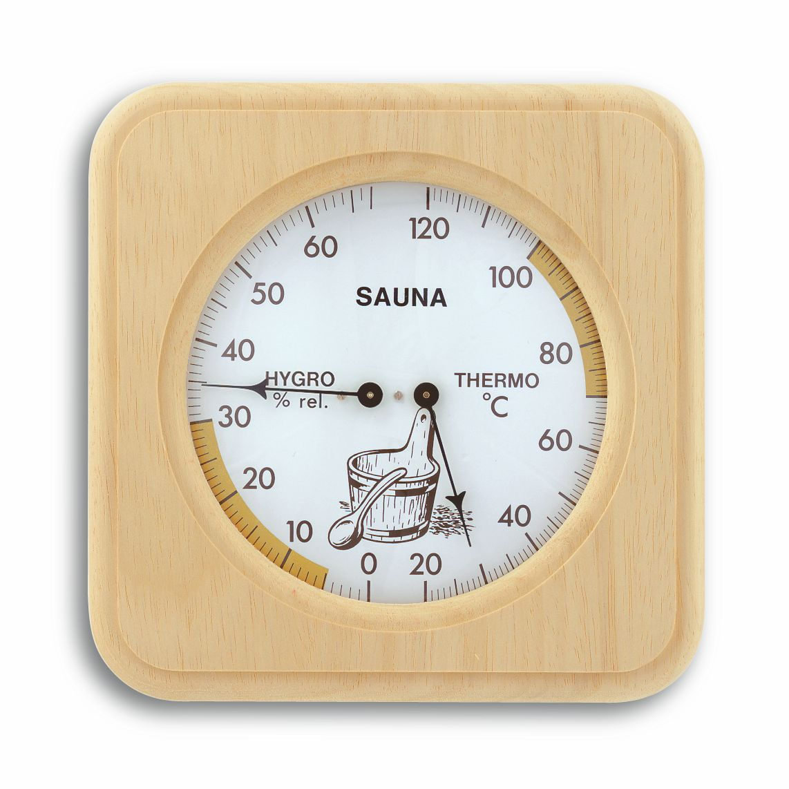 Sauna-Thermo-Hygrometer, 175x175mm