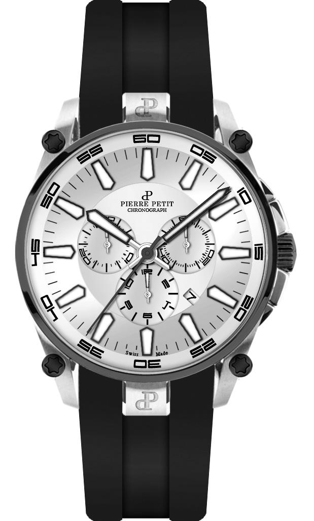 Pierre Petit Chronograph Le Mans silver/black Swiss Made
