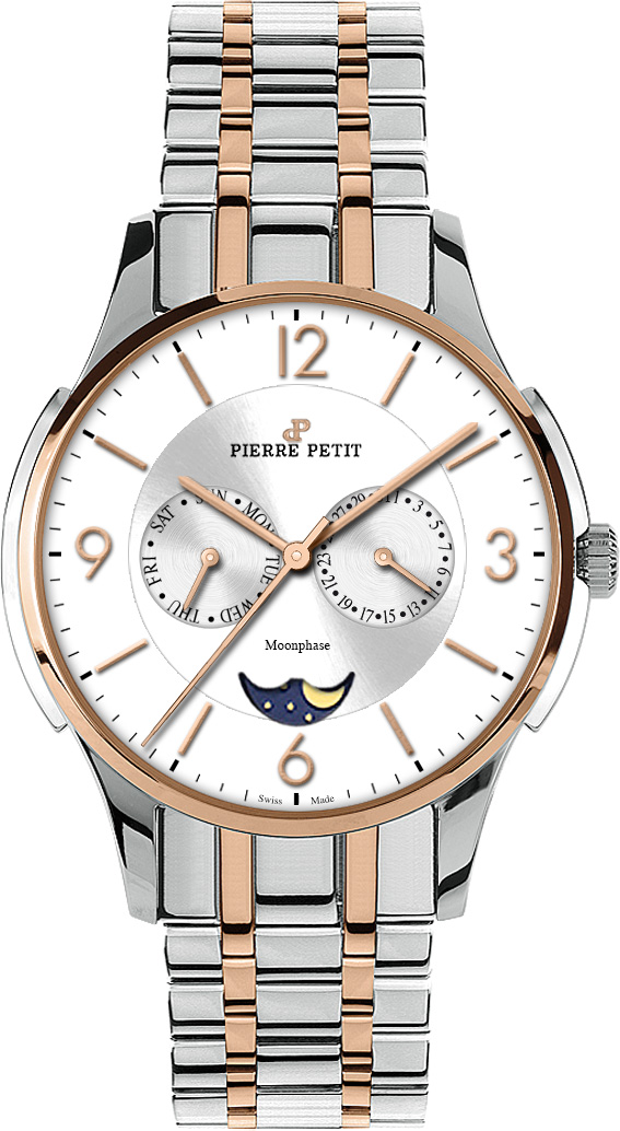 Pierre Petit Multifunktions-Uhr St. Tropez bicolor Swiss made