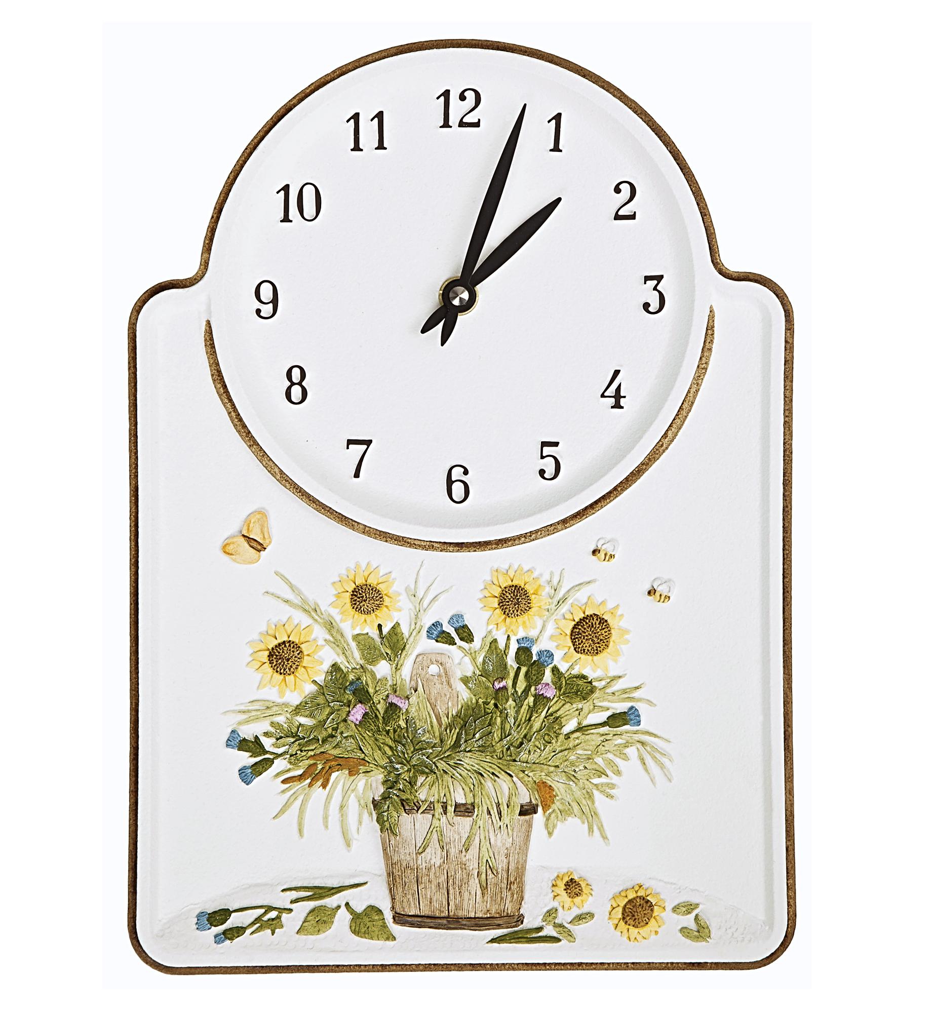 """Horloge à quartz """"Bouquet de fleurs"""""""