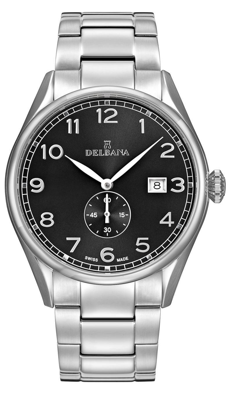 DELBANA HAU stainless steel/dial black - Swiss Made