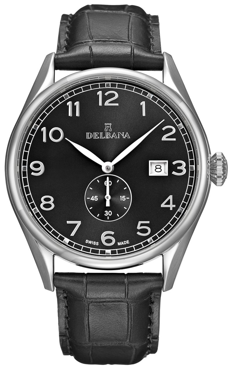 DELBANA HAU leather/dial black - Swiss Made