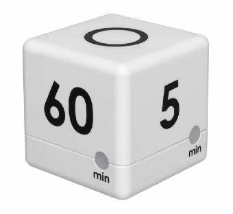 TFA Kurzzeitmesser Cube weiß