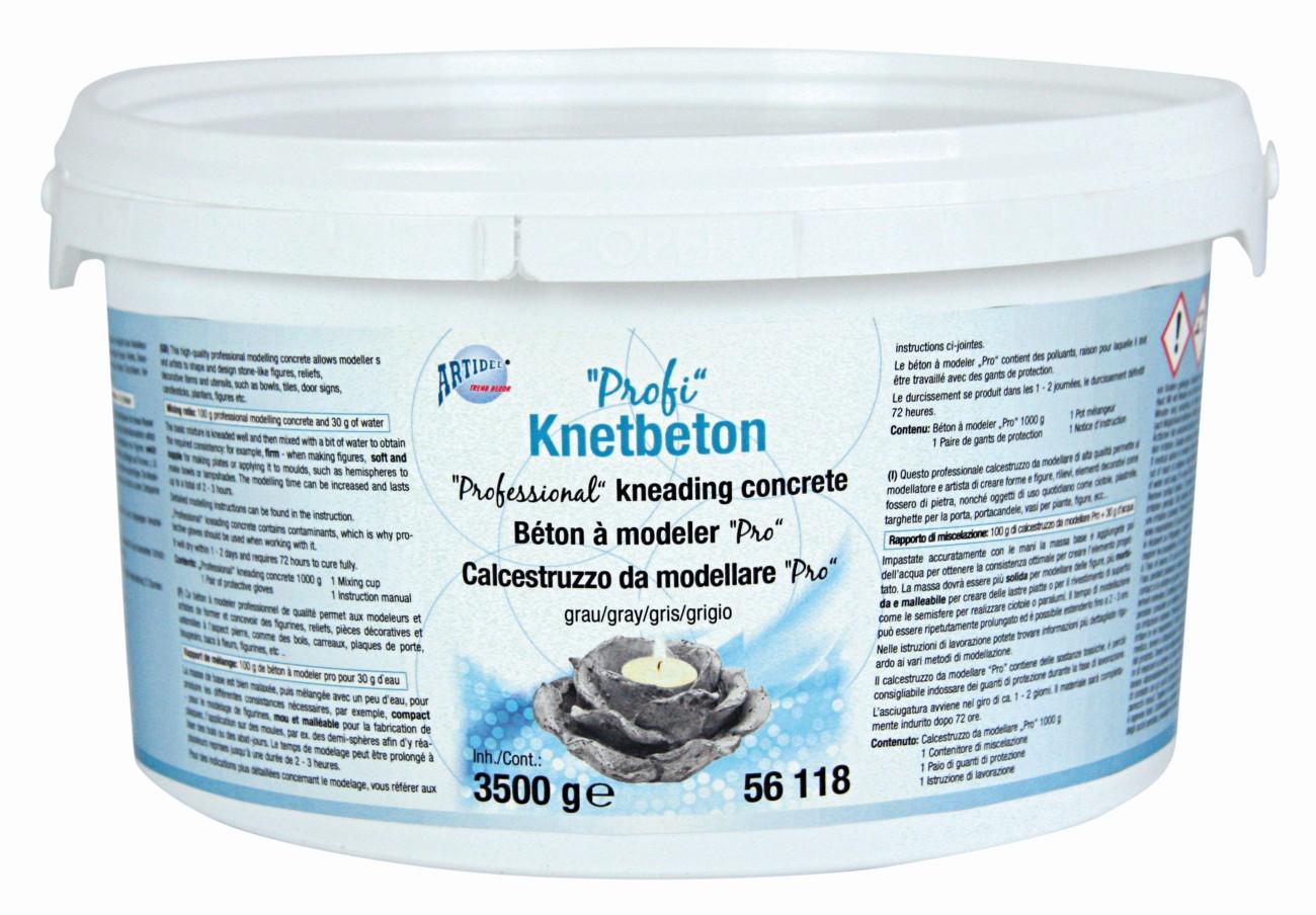 Profi-Knetbeton grau, 3500g