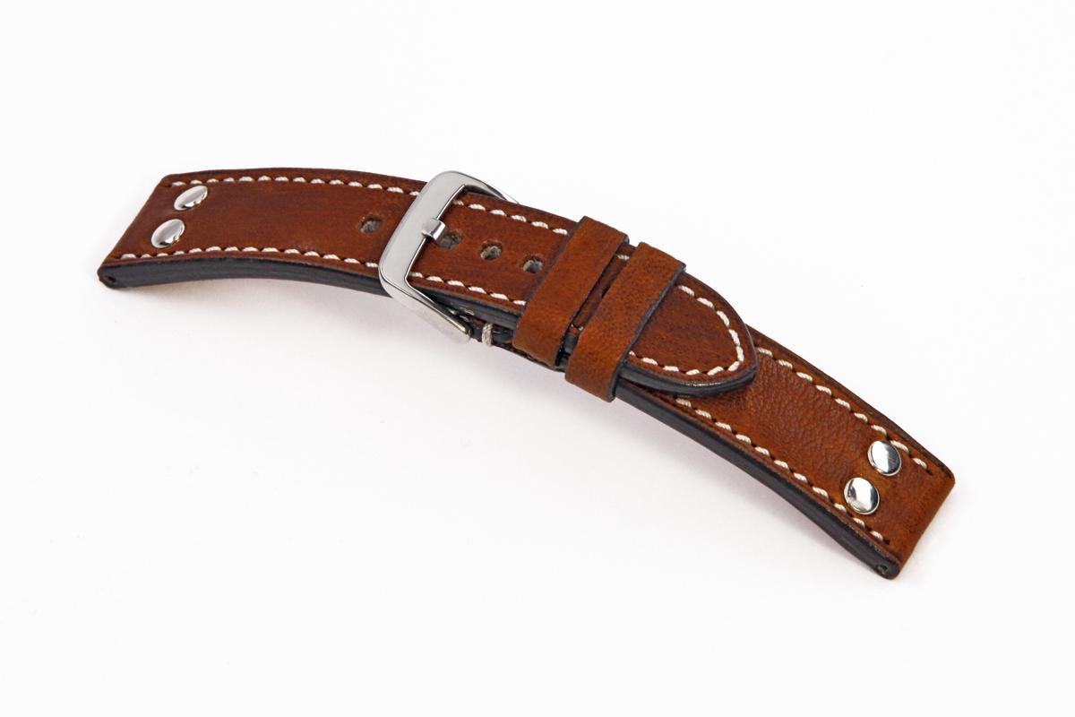 Bracelet-montre en cuir Rockford 22 mm acajou