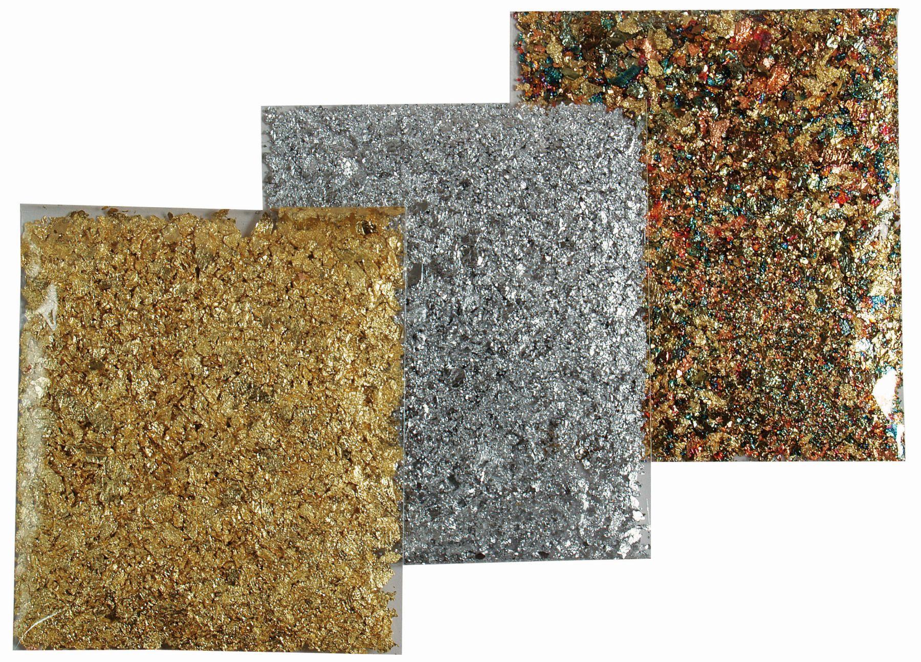 Blattmetall-Flocken silber 1g