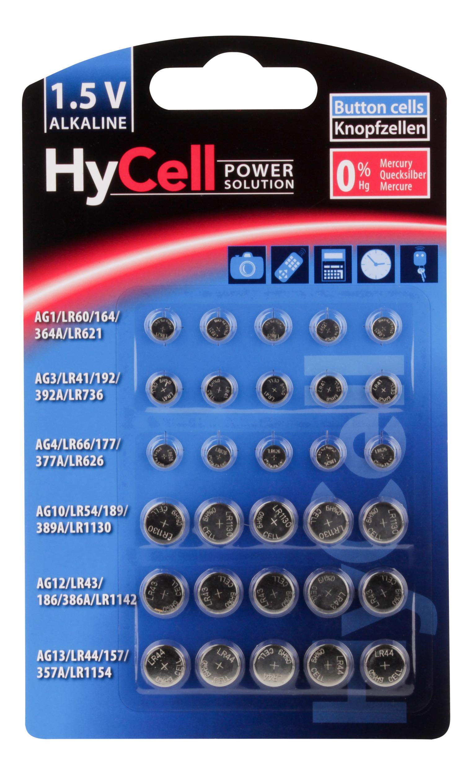 Alkaline Button Cell assortment