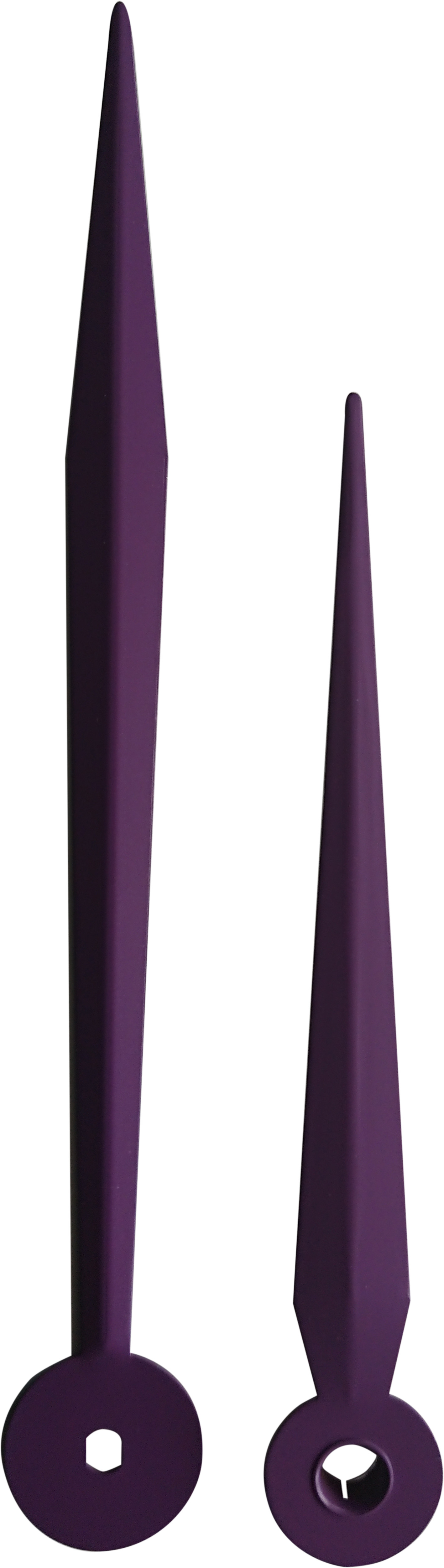 Euronormzeiger lila Aluminium 123/94mm