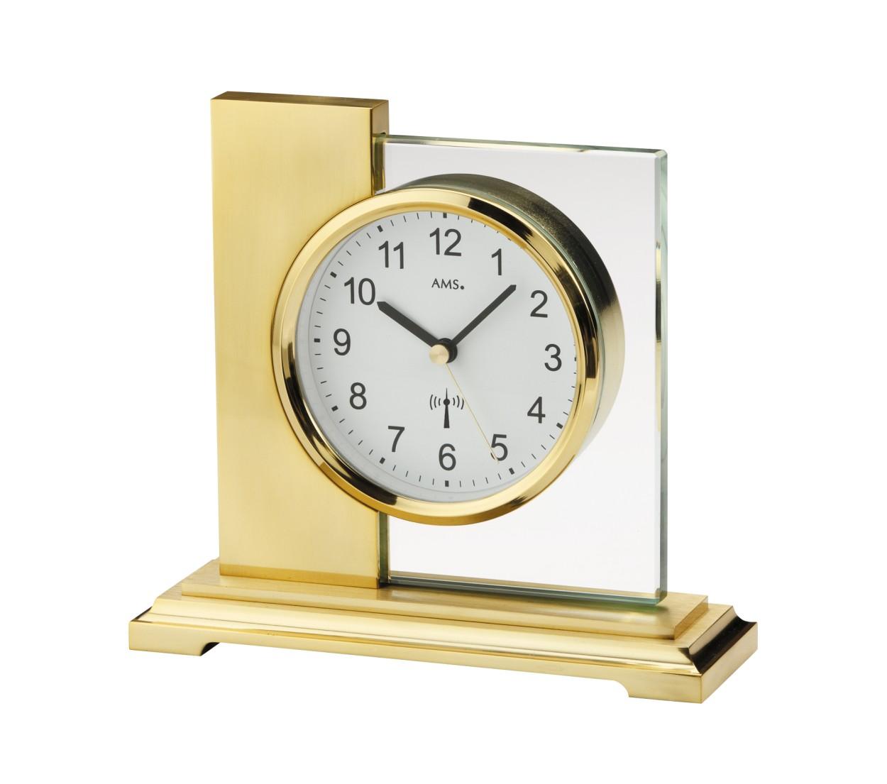 AMS Design-Funktischuhr Linz, vergoldet