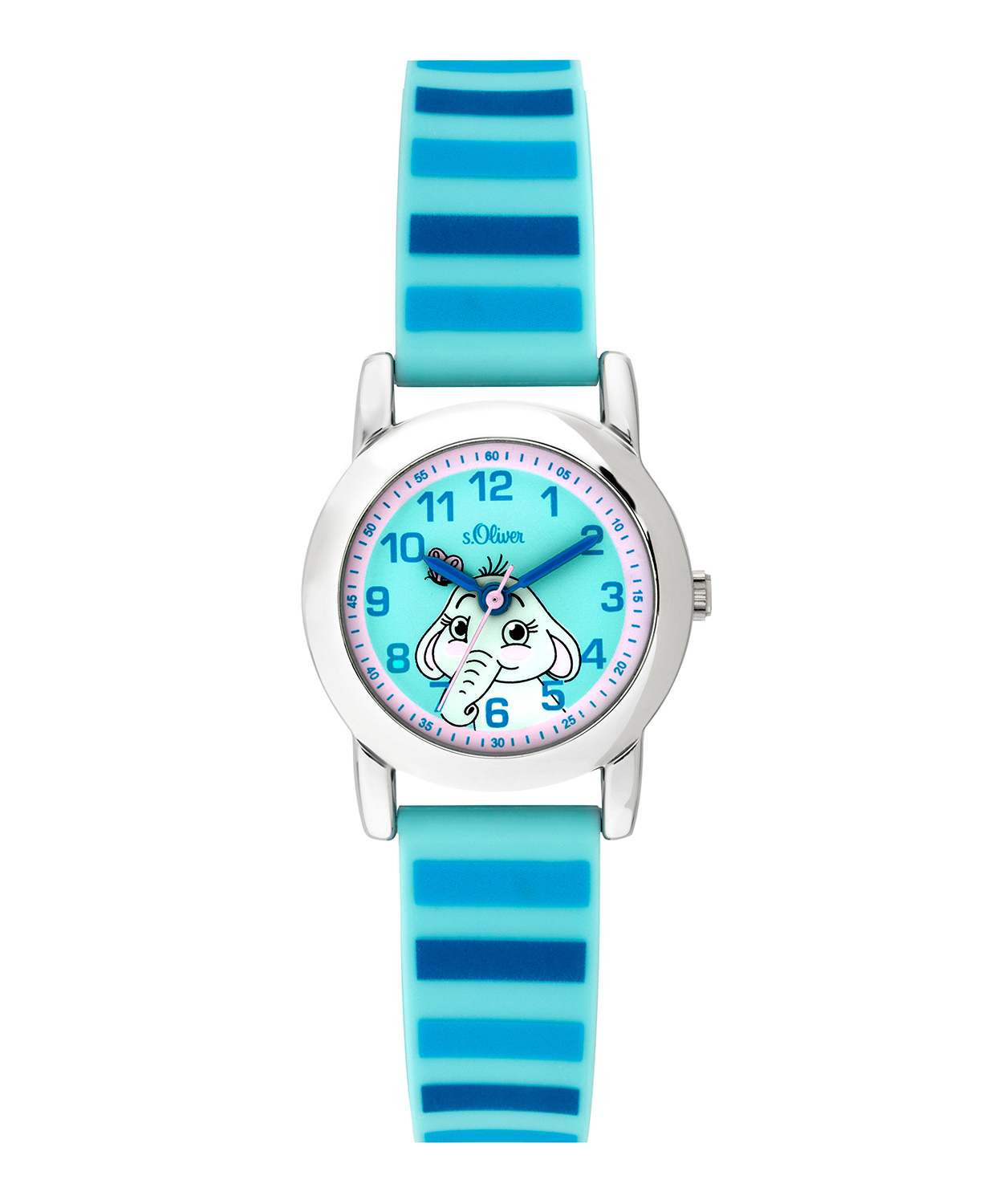 s.Oliver rubber watch strap light blue SO-3614-PQ